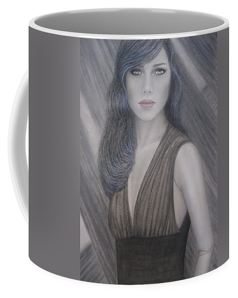 Woman Coffee Mug featuring the painting The Doll by Lynet McDonald