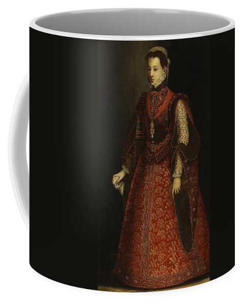 The Empress Isabel Of Portugal Coffee Mug featuring the painting The Empress Isabel Of Portugal by MotionAge Designs