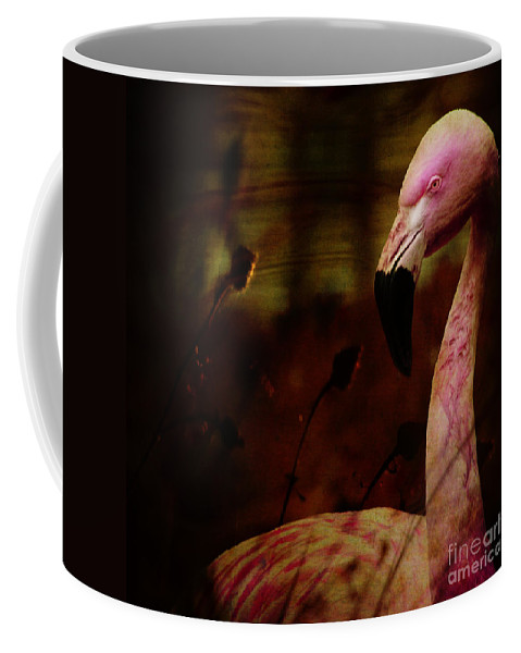 Flamingo Coffee Mug featuring the photograph The Flamingo by Angel Tarantella