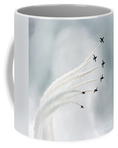 Red Arrows Coffee Mug featuring the photograph The Flower by Angel Ciesniarska