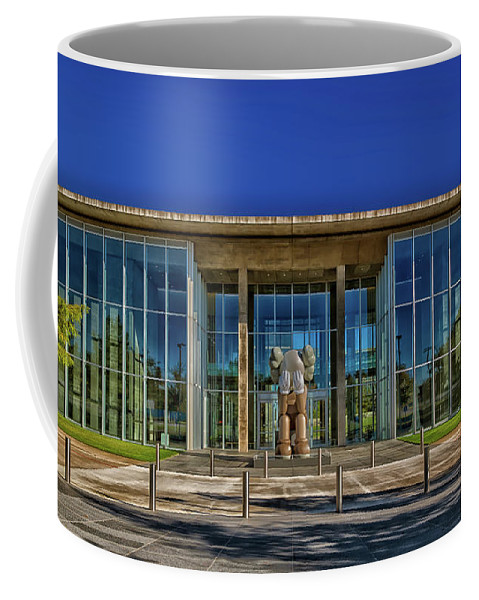 Fort Worth Coffee Mug featuring the photograph The Fort Worth Modern Art Museum by Mountain Dreams
