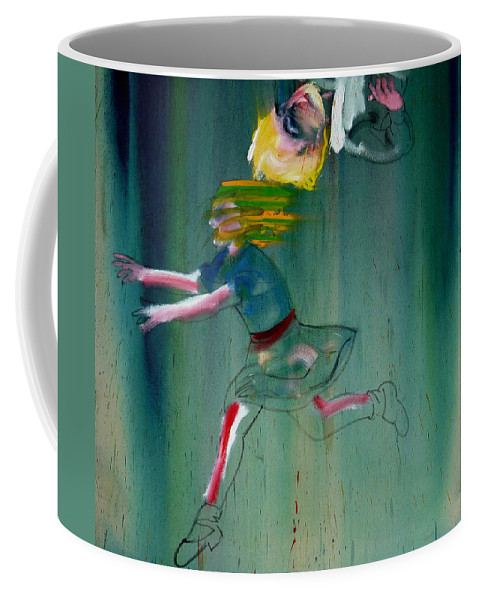 Fall Coffee Mug featuring the painting The Fruit Machine Stops Detail by Charles Stuart