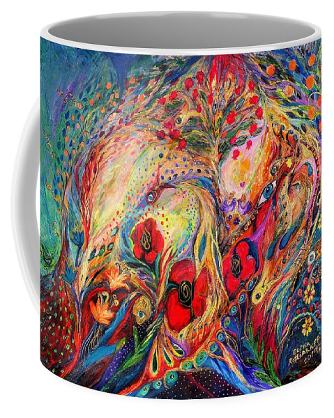 Original Coffee Mug featuring the painting The Fruits Of Holy Land by Elena Kotliarker