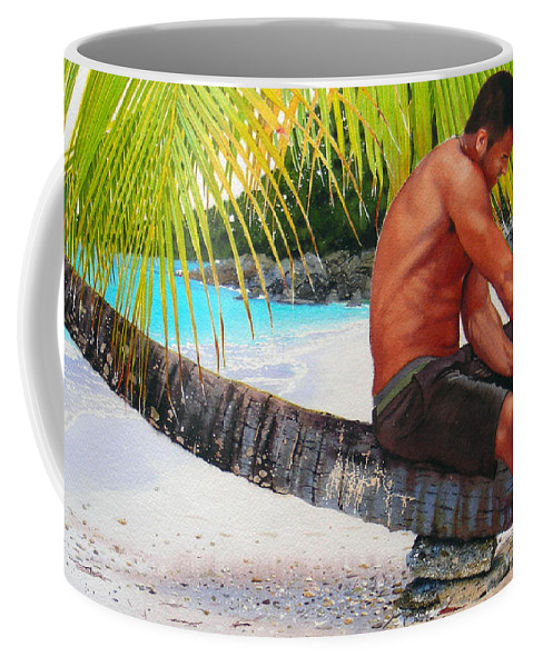 Male Figure Coffee Mug featuring the painting The Gatherer by Denny Bond