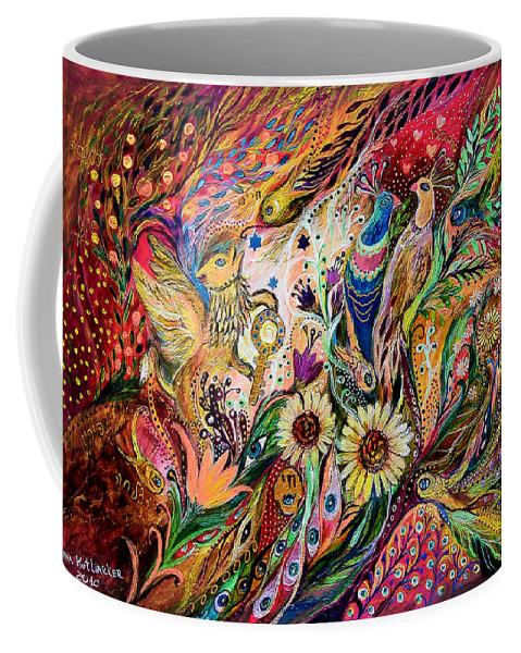 Original Coffee Mug featuring the painting The Gestures Of Love by Elena Kotliarker