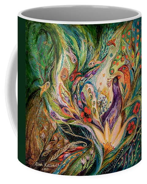Original Coffee Mug featuring the painting The Glade by Elena Kotliarker