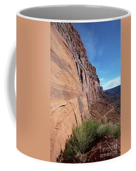 Utah Landscape Coffee Mug featuring the photograph The Great Wall by Jim Garrison