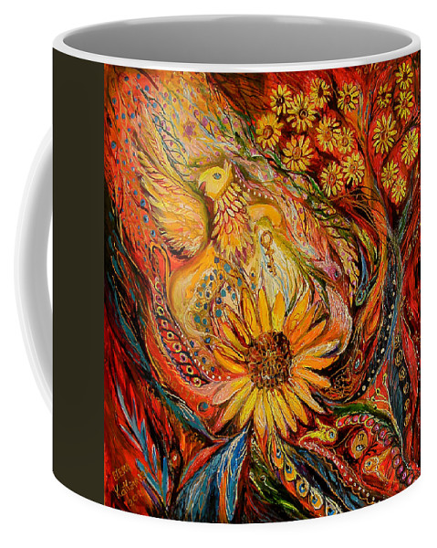 Original Coffee Mug featuring the painting The Griffin Kingdom by Elena Kotliarker