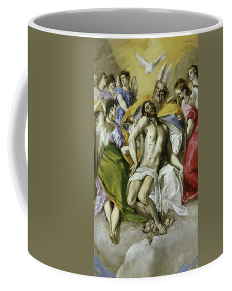 Christ Coffee Mug featuring the painting The Holy Trinity by El Greco