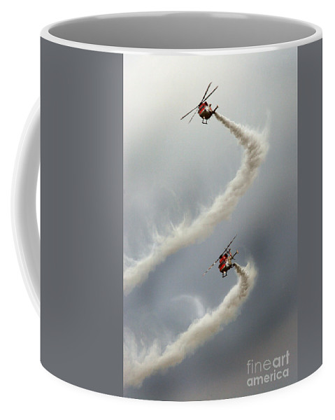 Sarangs Coffee Mug featuring the photograph The Indian Peacocks by Angel Tarantella