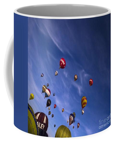 Balloon Fiesta Coffee Mug featuring the photograph The Lounge by Angel Ciesniarska