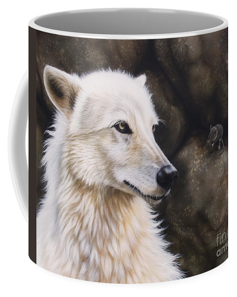 Acrylic Coffee Mug featuring the painting The Mouse by Sandi Baker