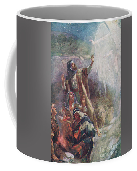 Angel Coffee Mug featuring the painting The Nativity by Harold Copping