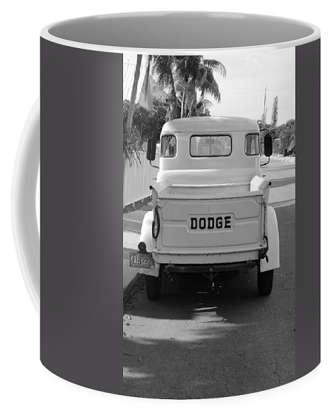 Black And White Coffee Mug featuring the photograph The Old Dodge by Rob Hans
