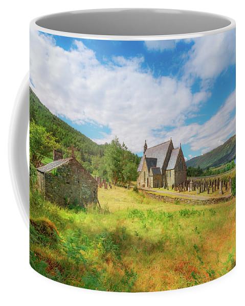 Ballichulish Church Coffee Mug featuring the photograph The Old Highland Church by Roy McPeak