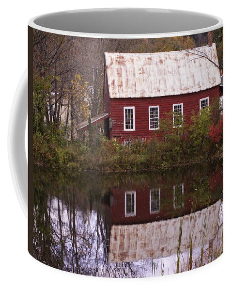 Scenic Coffee Mug featuring the photograph The Old Mill House by Nancy Griswold