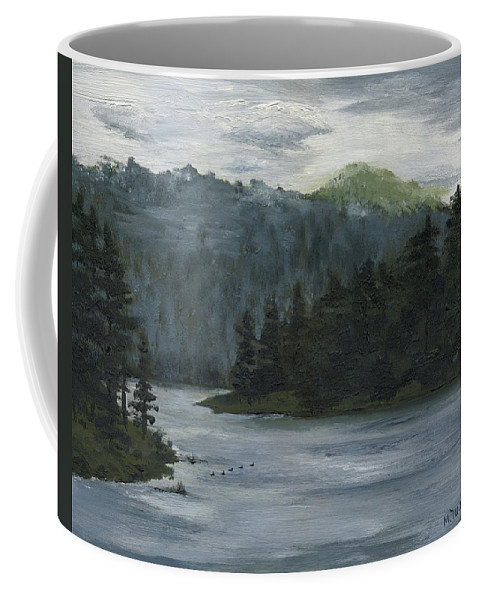 Blackhills Coffee Mug featuring the painting The Overlook by Mary Tuomi