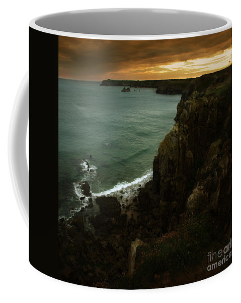 Cliff Coffee Mug featuring the photograph The Pembrokeshire Cliffs by Angel Ciesniarska