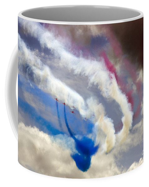Red Arrows Coffee Mug featuring the photograph The Phoenix Bend by Angel Ciesniarska
