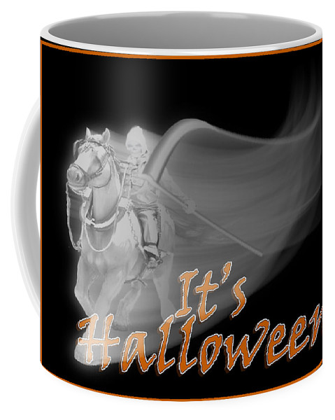 Halloween Coffee Mug featuring the mixed media The Reaper Rides Again by Gravityx9 Designs