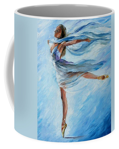 Afremov Coffee Mug featuring the painting The Sky Dance by Leonid Afremov