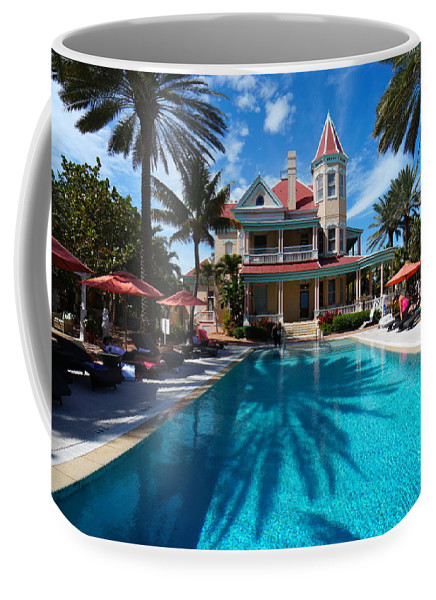 Florida Coffee Mug featuring the photograph The Southernmost House by Chuck Johnson