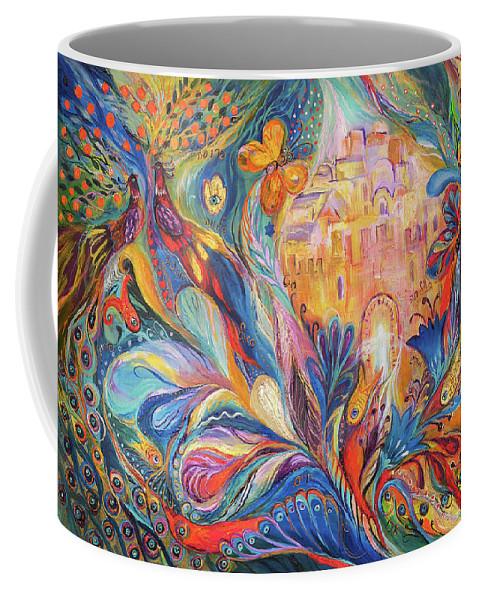 Original Coffee Mug featuring the painting The Spirit Of Jerusalem by Elena Kotliarker
