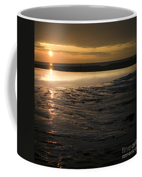 Beach Coffee Mug featuring the photograph The Sunset by Angel Ciesniarska
