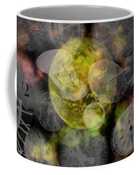 Chaos Coffee Mug featuring the painting The Time Is Out Of Joint by RC DeWinter