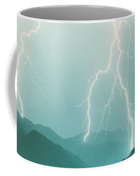 Lightning Coffee Mug featuring the photograph The Walk by James BO Insogna