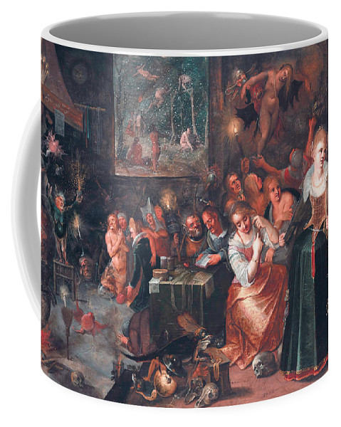 17th Century Art Coffee Mug featuring the painting The Witches' Sabbath by Frans Francken the Younger