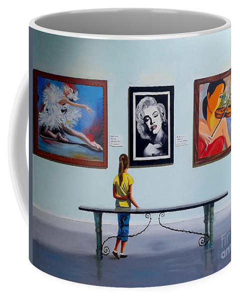 Dancing Coffee Mug featuring the painting I want to be by Jose Manuel Abraham