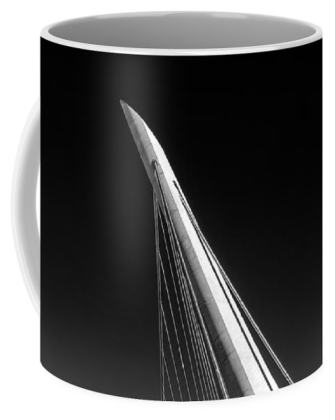 Black & White Coffee Mug featuring the photograph The Needle by Peter Tellone