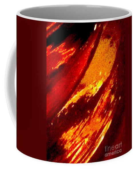 Abstract Coffee Mug featuring the photograph Through A Glass Darkly 1 Abstract by Ken Lerner