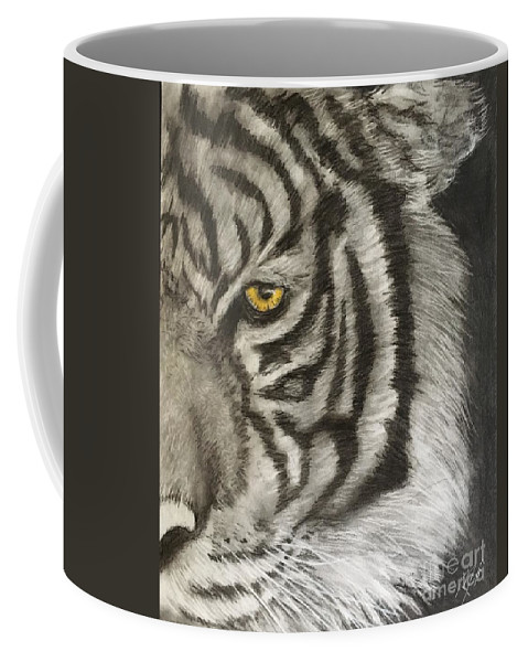 Tiger Art. Wildlife Art. Jungle Art. Tiger Drawing Coffee Mug featuring the drawing Tiger by Robert Polley