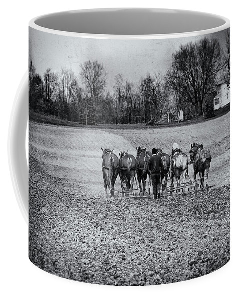 Agriculture Coffee Mug featuring the photograph Tilling The Fields by Tom Mc Nemar