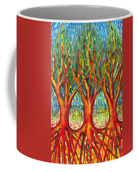 Colour Coffee Mug featuring the painting Together by Wojtek Kowalski