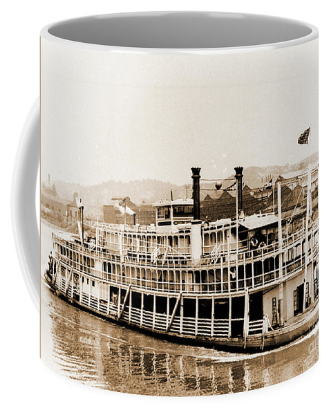 River Coffee Mug featuring the photograph Tom Greene River Boat by Gary Wonning
