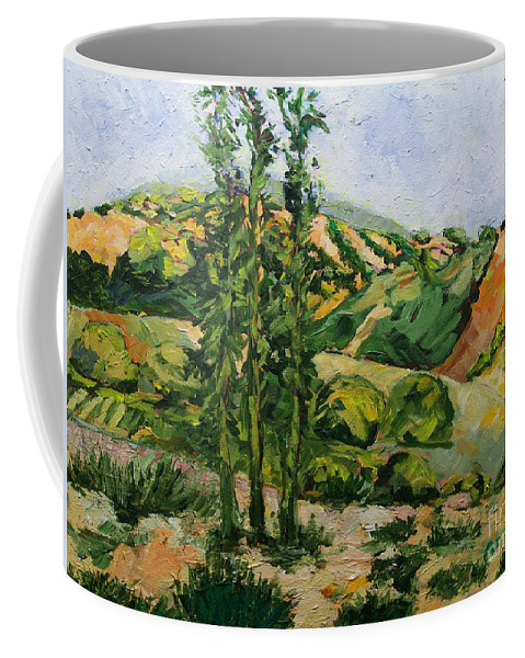 Landscape Coffee Mug featuring the painting Top of the Hill by Allan P Friedlander