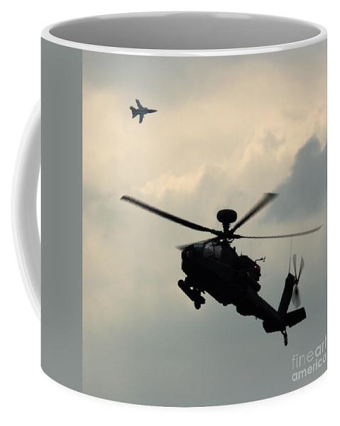 Tornado F3 Coffee Mug featuring the photograph Tornado F3 And Apache by Angel Ciesniarska