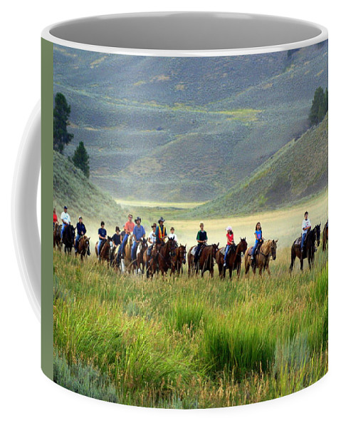 Trail Ride Coffee Mug featuring the photograph Trail Ride by Marty Koch
