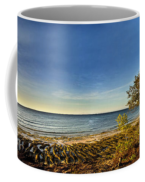 Panoramic Coffee Mug featuring the photograph Trees by George Cabig