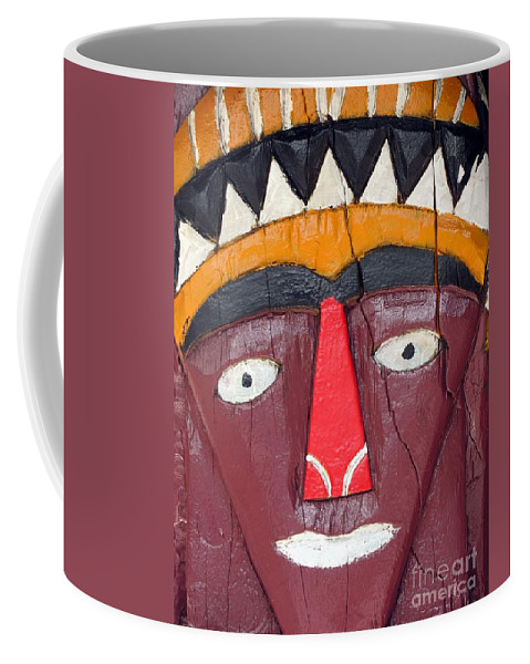 Wood Coffee Mug featuring the photograph Tribal Decoration by Yali Shi