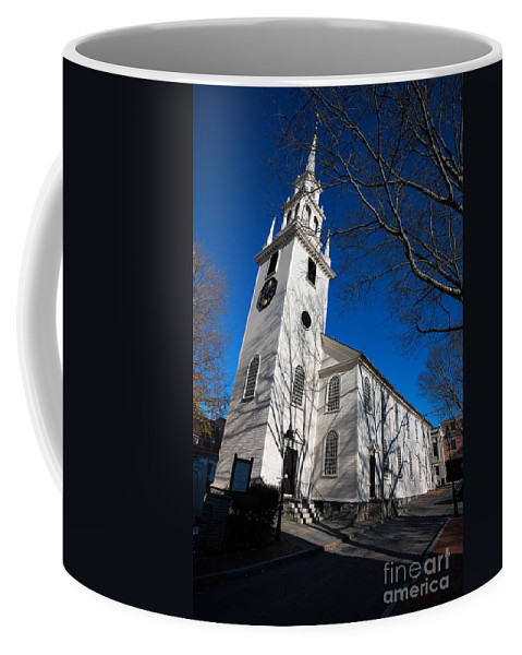 Travel Coffee Mug featuring the photograph Trinity Church Newport Rhode Island by Jason O Watson