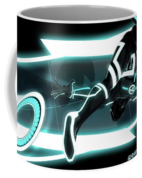 Tron Legacy Coffee Mug featuring the digital art TRON Legacy by Maye Loeser