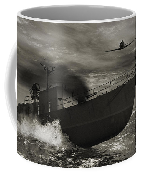 War Coffee Mug featuring the digital art Under Attack by Richard Rizzo