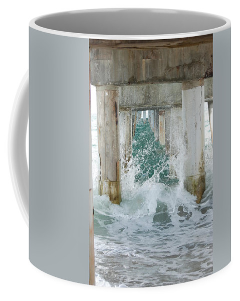 Ocean Coffee Mug featuring the photograph Under The Boardwalk by Rob Hans