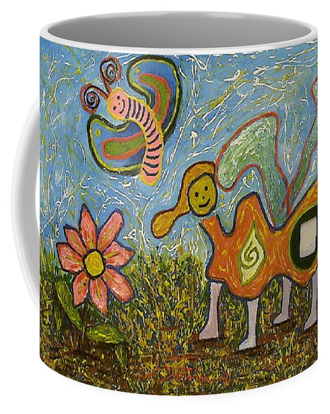 Animals Coffee Mug featuring the painting Untitled by Ioulia Sotiriou