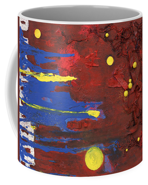 Red Coffee Mug featuring the mixed media Untitled by Jaime Becker