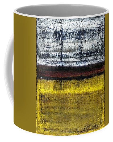 Yellow Coffee Mug featuring the painting Untitled No. 18 by Julie Niemela